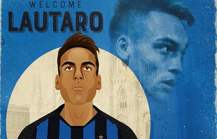 Así presentaron a Lautaro Martínez en el Inter de Milán. Foto: Twitter