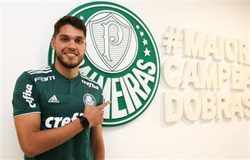 Nicolás Freire es presentado como nuevo jugador del Palmeiras