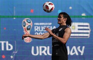 Uruguay vs Francia: Edinson Cavani se entrenó con balón y podría llegar