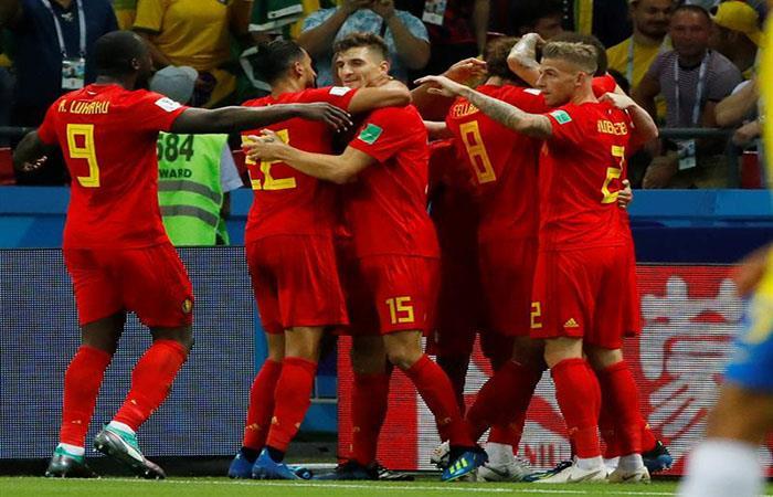 Bélgica sorprende y supera a Brasil por 2-0. Foto: EFE