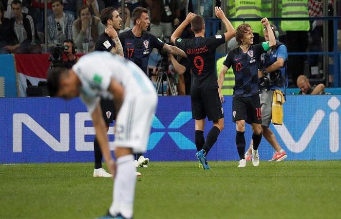 Croacia goleó 3-0 a la Argentina. (FOTO: EFE)