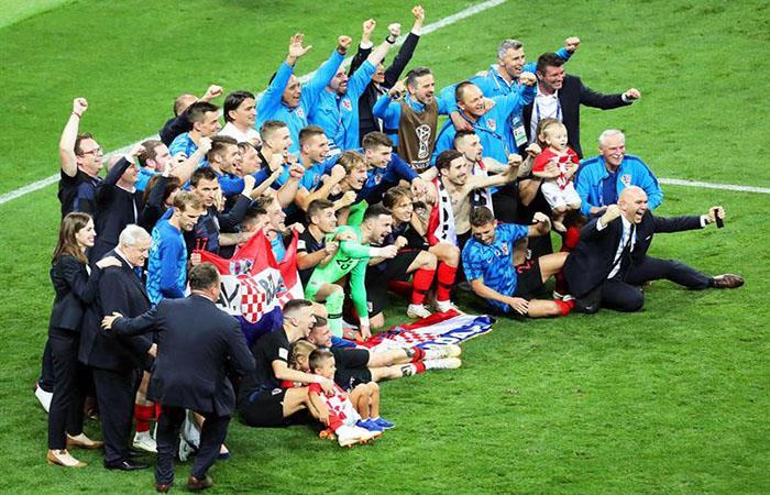 Croacia clasificó a la final del Mundial por primera vez en su historia. Foto: EFE