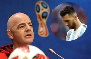 """Gianni Infantino: """"Messi nos ha hecho soñar durante más de 10 años y seguirá"""""""