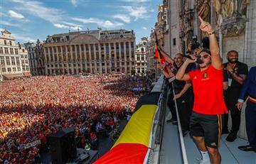 Bélgica llego a su país en recibimiento histórico tras lograr podio del Mundial