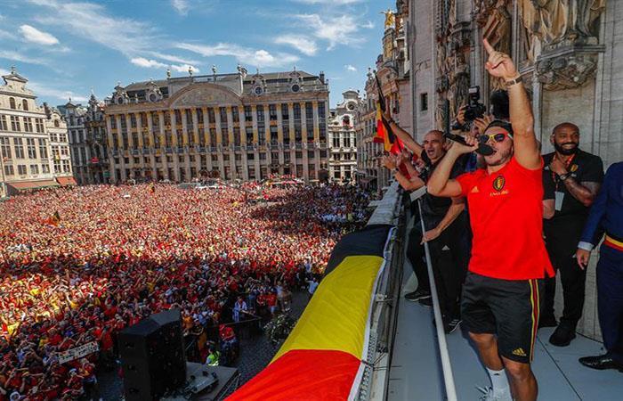 La Selección de Bélgica tuvo una bienvenida histórica en su país tras el Mundial. (FOTO: EFE)