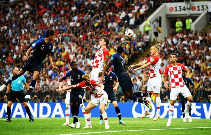 Francia gana 2-1 a Croacia en el primer tiempo. Foto: Twitter