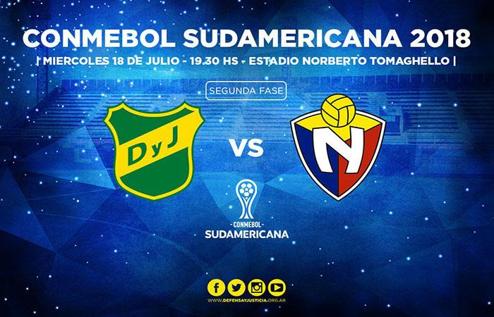 Defensa y Justicia vs El Nacional EN VIVO ONLINE por la Copa Sudamericana