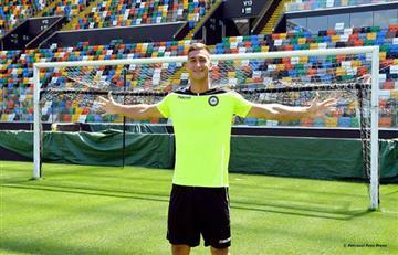 Juan Musso fue presentado por el Udinese italiano