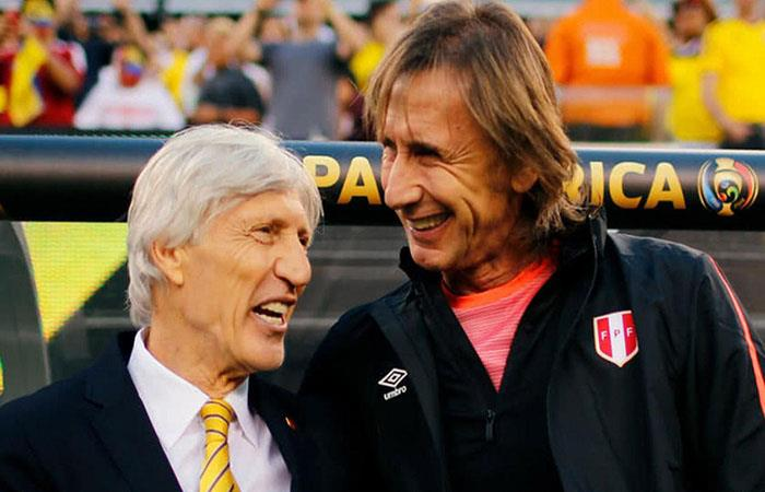 Néstor Pékerman y Ricardo Gareca. (FOTO: AFP)