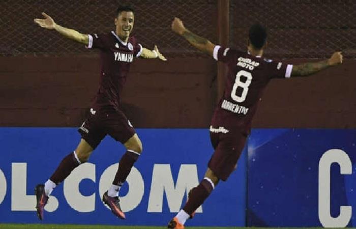 Lanús logró el triunfo. (FOTO: AFP)