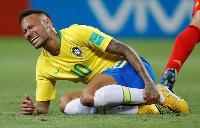 Neymar durante el Mundial. Foto: AFP
