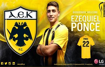 Ezequiel Ponce llega cedido al AEK de Atenas