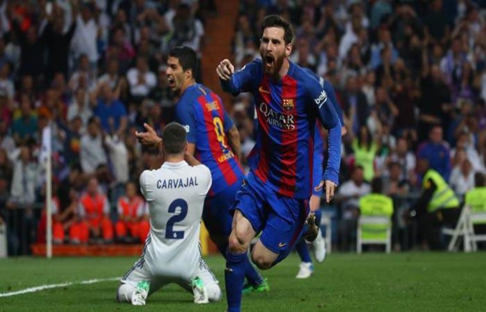Lionel Messi ante el Real Madrid. (FOTO: AFP)
