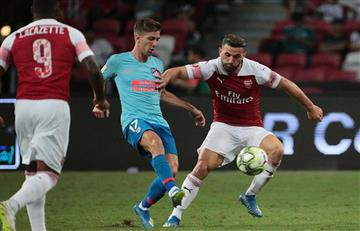 Atlético de Madrid venció al Arsenal con gol de Luciano Vietto tras pase de Ángel Correa
