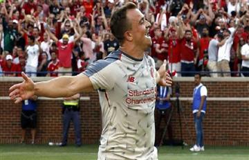 Xherdan Shaqiri y su chilena espectacular en el triunfo del Liverpool sobre el Manchester