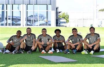 Cristiano Ronaldo ya entrena junto a Gonzalo Higuaín y Paulo Dybala en la Juventus