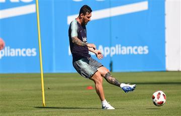 Lionel Messi entrena con el Barcelona bajo la ola de calor que azota a España