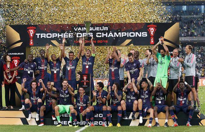 PSG campeón de la Supercopa de Francia. Foto: Twitter
