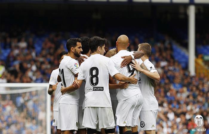 Valencia ganó 3-2 a Everton. Foto: Twitter