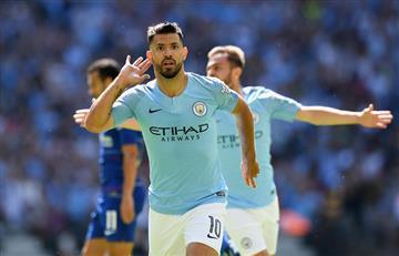 Sergio Agüero anota su gol 200 con el Manchester City