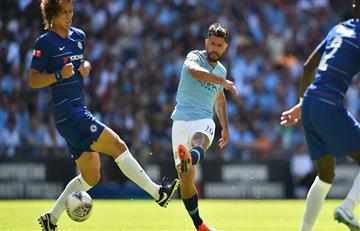 Sergio Agüero anotó un doblete y hace historia con el Manchester City