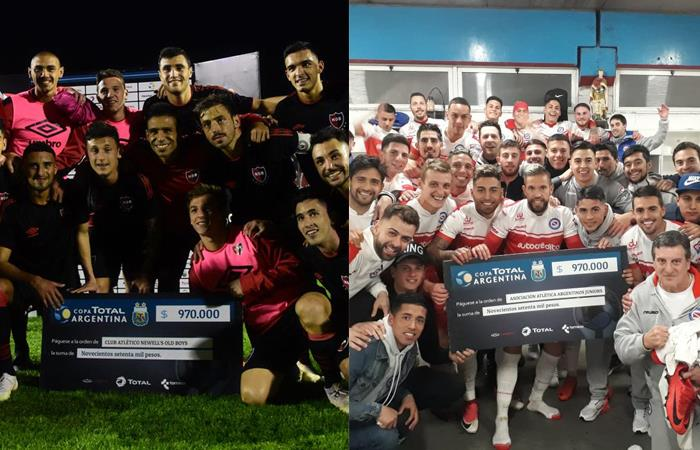 Newell's y Argentinos. Foto: Twitter