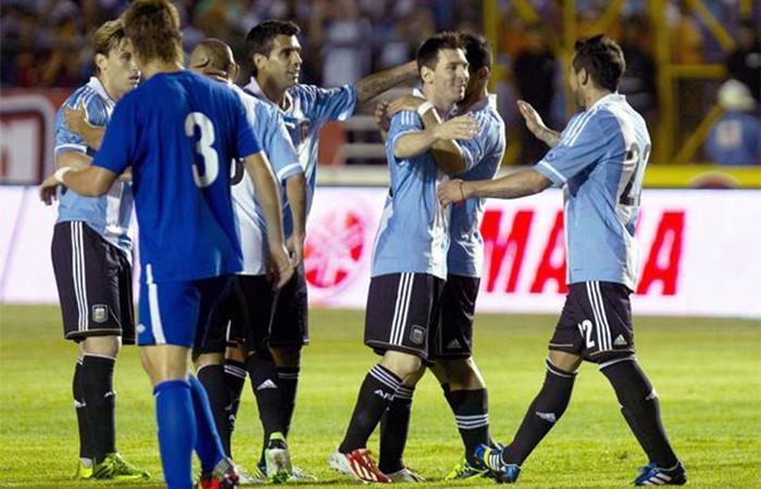 Selección Argentina. Foto: EFE
