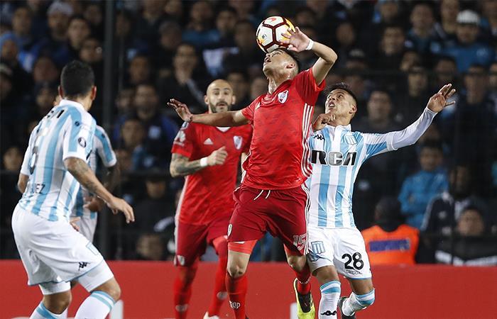 Racing igualó 0-0 ante River Plate. Foto: EFE