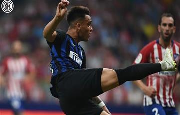 Lautaro Martínez y su golazo de tijera para el Inter sobre el Atlético de Madrid