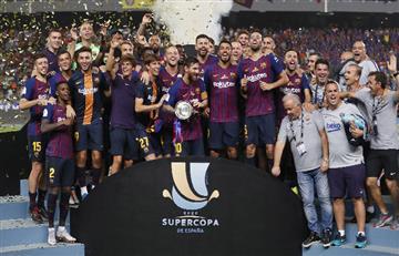 Barcelona de Lionel Messi se consagró campeón de la Supercopa de España