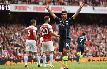 Manchester City de Sergio Agüero consigue su primer triunfo ante el Arsenal