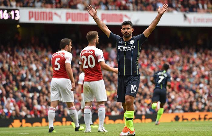 Manchester City derrotó 2-0 al Arsenal. Foto: Twitter