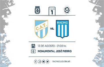 Atlético Tucumán vs Racing: EN VIVO ONLINE por la primera fecha de la Superliga