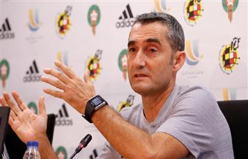"""Ernesto Valverde: """"Estamos contentos, hubo mucha dificultad y remontamos"""""""