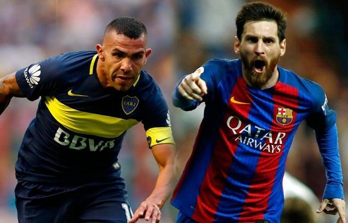 Carlos Tevez y Lionel Messi se reencontrarán en el partido de este miércoles. (AFP). Foto: AFP