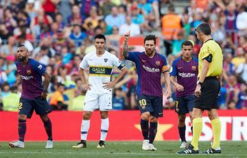 Barcelona de Lionel Messi levantó el trofeo Joan Gamper tras vencer a Boca Juniors