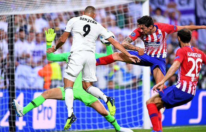 Karim Benzema marcó el empate transitorio. (FOTO: EFE)