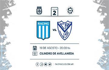 Racing vs Vélez: EN VIVO ONLINE por la segunda fecha de la Superliga Argentina