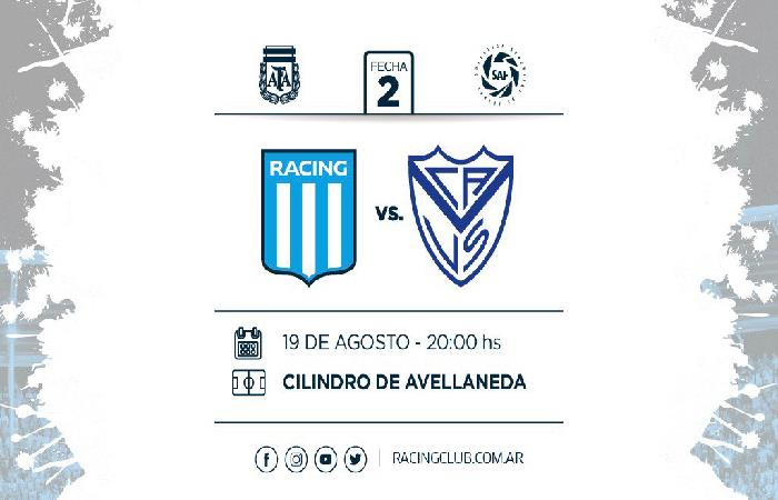 Racing vs Vélez (Foto: Twitter)