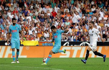 Atlético Madrid de Ángel Correa igualó ante el Valencia y suma un punto