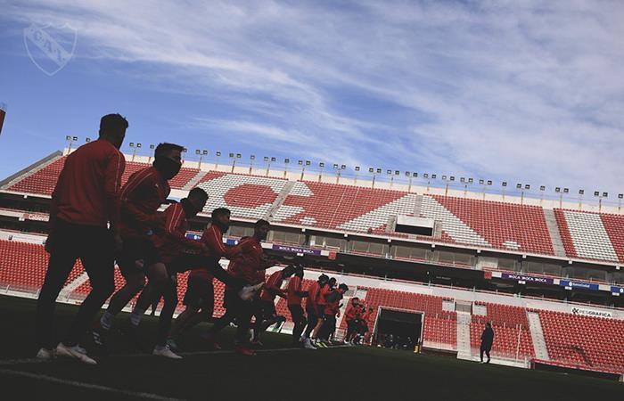 Independiente se entrena en el 'Infierno'. (FOTO: Twitter)