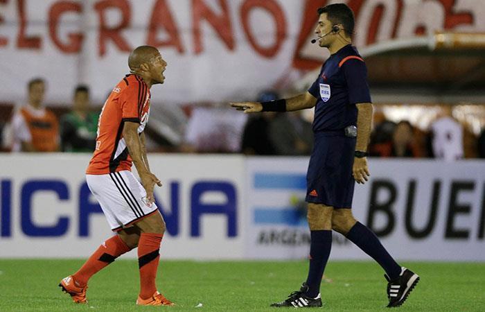 Carlos Sánchez como jugador de River Plate. Foto: AFP