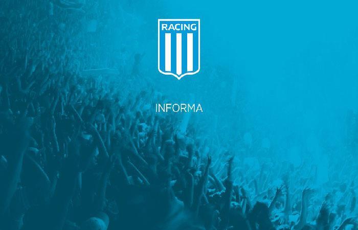 Racing Club. Foto: Twitter