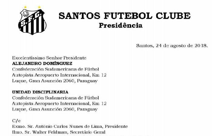 Santos pide a Conmebol principio de igualdad en caso del uruguayo Sánchez