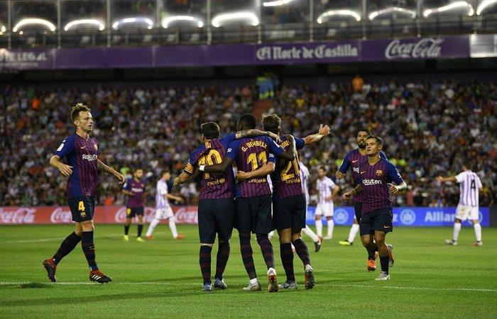 Barcelona venció 1-0 al Valladolid. Foto: Twitter