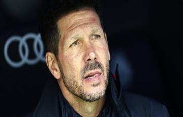 Diego Simeone asiste al partido de su hijo Giovanni en Florencia
