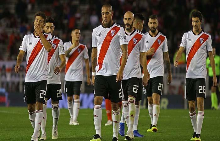 La decepción de River Plate tras otro 0-0. Foto: Twitter