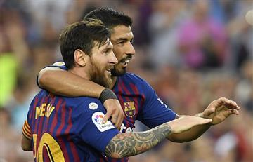 Lionel Messi brilló en el triunfo del Barcelona