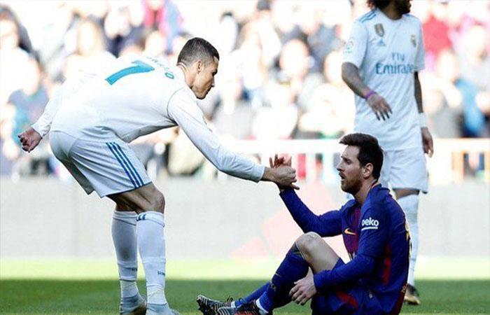 Lionel Messi y Cristiano Ronaldo (Foto: Twitter)