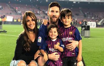Leo y su niñez en una foto